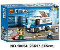 Конструктор Cities Инкассаторская машина 10654 150 дет.