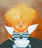 "Картина по номерам ""Ангел упрямства"""