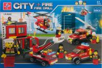 Купить Конструктор City Пожар в небоскребе LXA342