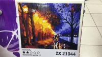 "Картина по номерам ""Ночная улица"" ZX 21044"