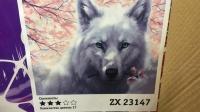 """Картина по номерам """"Белый волк"""" ZX 23147"""