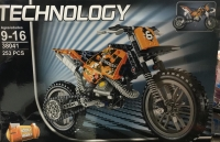 Конструктор LELE 38041  Кроссовый мотоцикл / Техник 253 детали