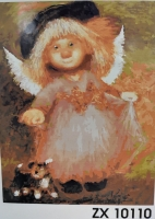 """Картина по номерам """"Ангел в платье"""" ZX 10110"""